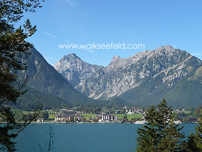 Looking across the Achensee at Pertisau