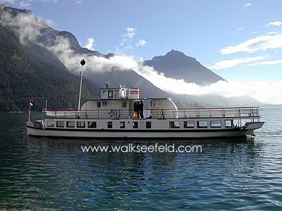 One of the regular ferry services on the Achensee at Pertisau