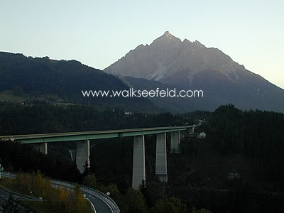 The Europa bridge on the way from Innsbruck to the Brenner Pass