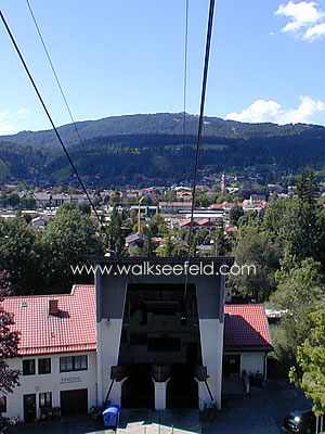 The Karwendelbahn cable car in  Mittenwald
