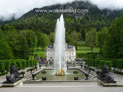Linderhof Castle in Bavaria