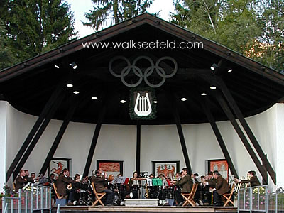 The open-air bandstand in the Seefeld Kurpark