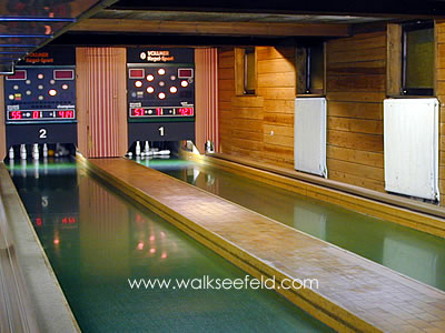 The bowling alley in Seefeld