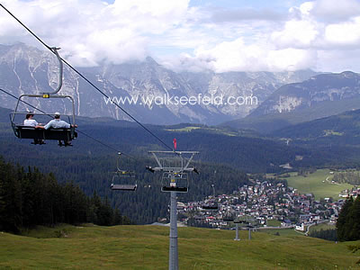 The Gschwandtkopf chairlift in Seefeld