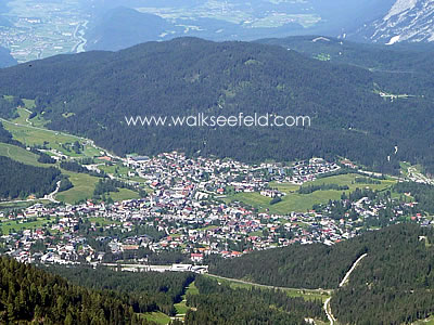 The view onto Seefeld from the Rosshütte