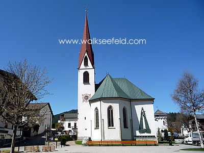 The Church of St Oswald in Seefeld