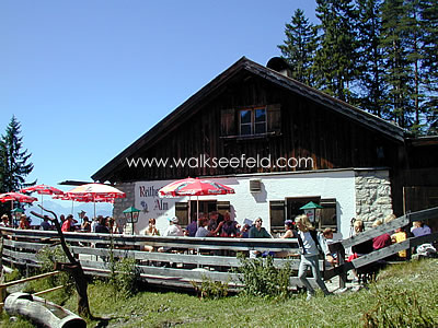 The Reitherjoch Alm hut above Seefeld